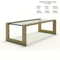 baker pompeii coffee table 3D model