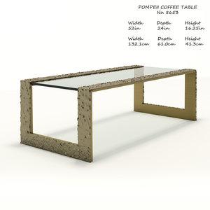 baker pompeii coffee table 3D model