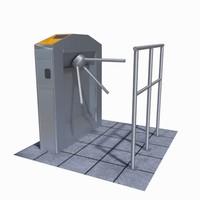 turnstile scene 3D model