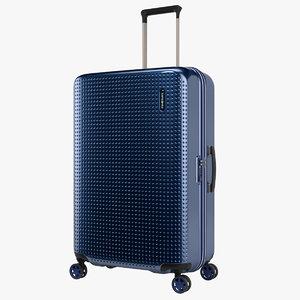 3D case samsonite blue