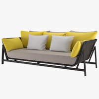sofa manta daybed 3D model