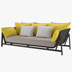 sofa manta daybed 3D model