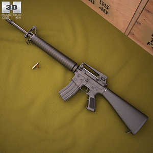 3D colt m16a4 m16 model