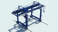 3D model gantry crane