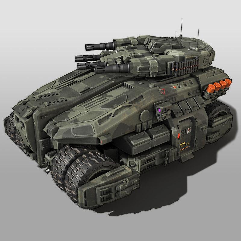 sf vehicle scifi 3D model