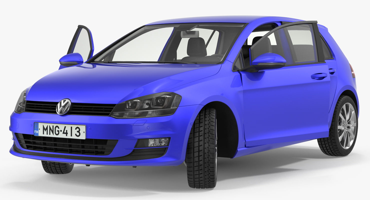 3D volkswagen golf 2017 rigged