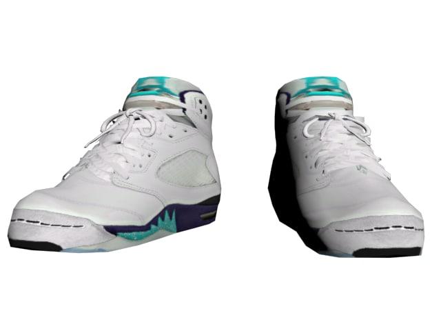 blue sneakers 3D model