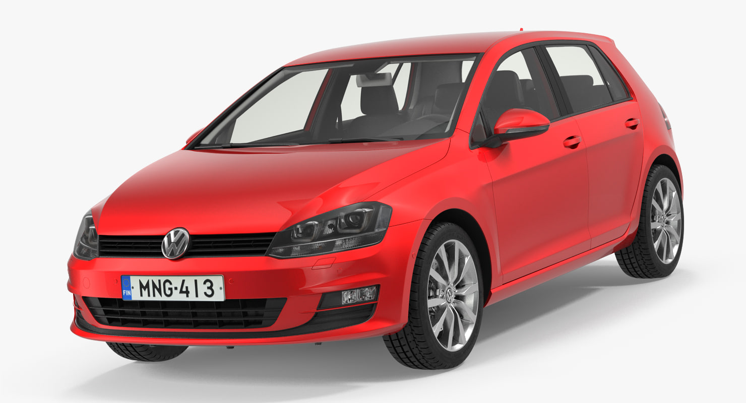 3D volkswagen golf 2017 interior model