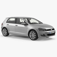 volkswagen golf 2017 3D