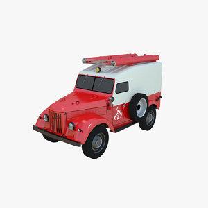 3D gaz-69 truck