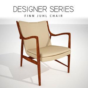 3D model finn juhl chair