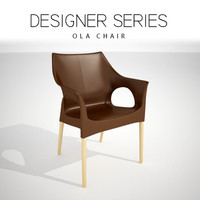 3D designer natural ola chair model
