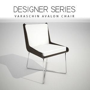 3D designer varaschin avalon chair
