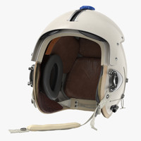3D model p flight helmet pilot