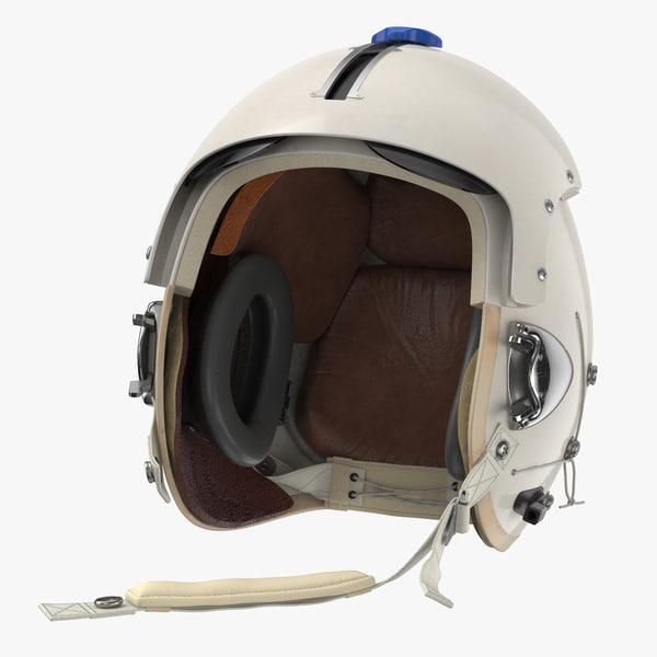 3D model p flight helmet pilot