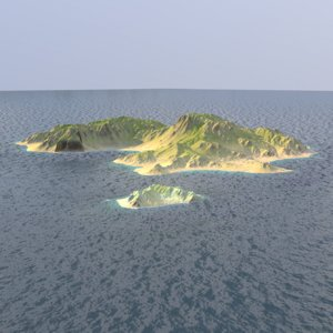 tropical island 3D