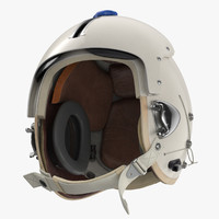 3D p flight helmet pilot model