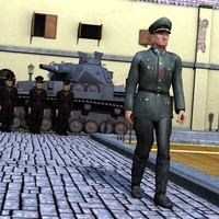 German Officer for M4 for Poser