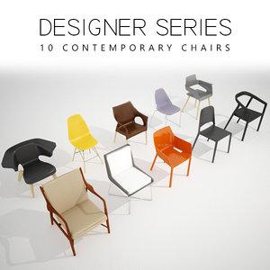3D model 10 designer chair