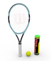 tennis racket wilson 3D model