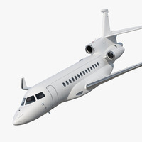 business jet dassault falcon 3D model