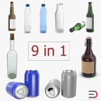 bottles 4 3D model