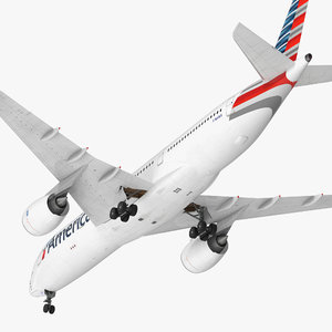 airbus a350-900 american airlines 3D model