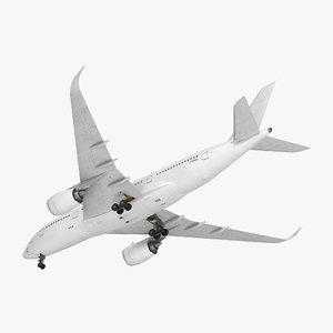 3D airbus a350-800 generic rigged model