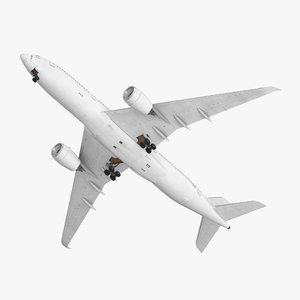 airbus a350-900 generic rigged 3D model