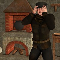 rogue thief poser 4 3D model
