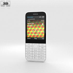 nokia 225 white 3D