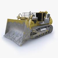 3D model bulldozer komatsu d575a industrial