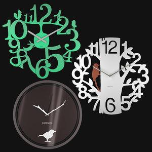 3D wall clocks model