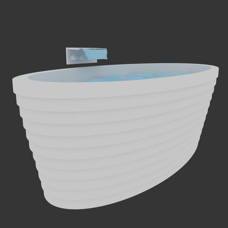 3D rhythm bathtub