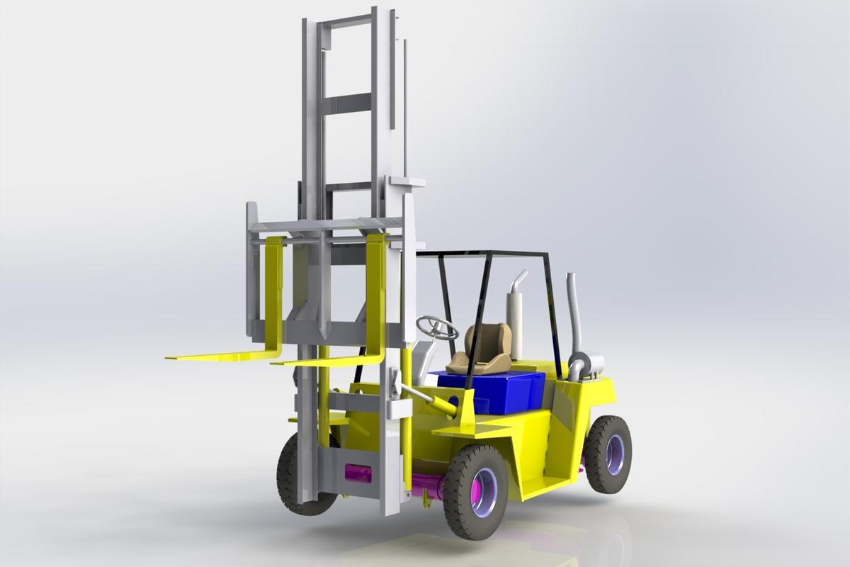 warehouse stock 3D model