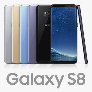 3D model samsung galaxy s8 colors