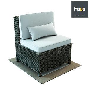 3D haus interior armchair woven
