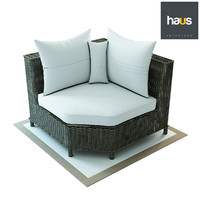 haus interior corner armchair 3D model