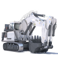 backhoe liebherr r996 3D model