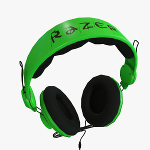 razer orca headphones polys 3D model