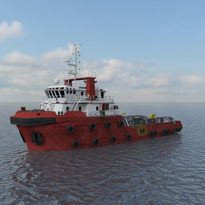 3D anchor handling tug model