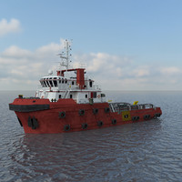 3D anchor handling tug model