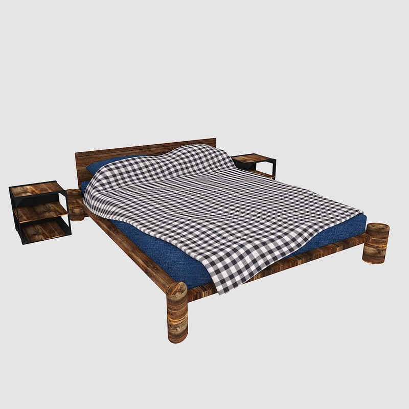 3D model country style bed