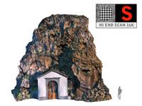 3D rock house model