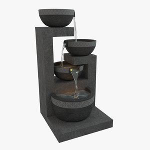 3D fountain modeled