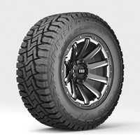 3D model road wheel tire 4