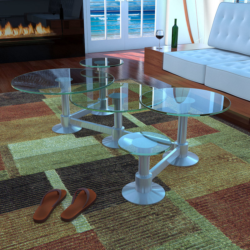 original lily pad coffee table 3D model