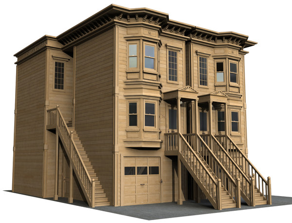 3D victorian house