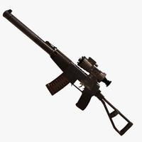 val rifle assault 3D model