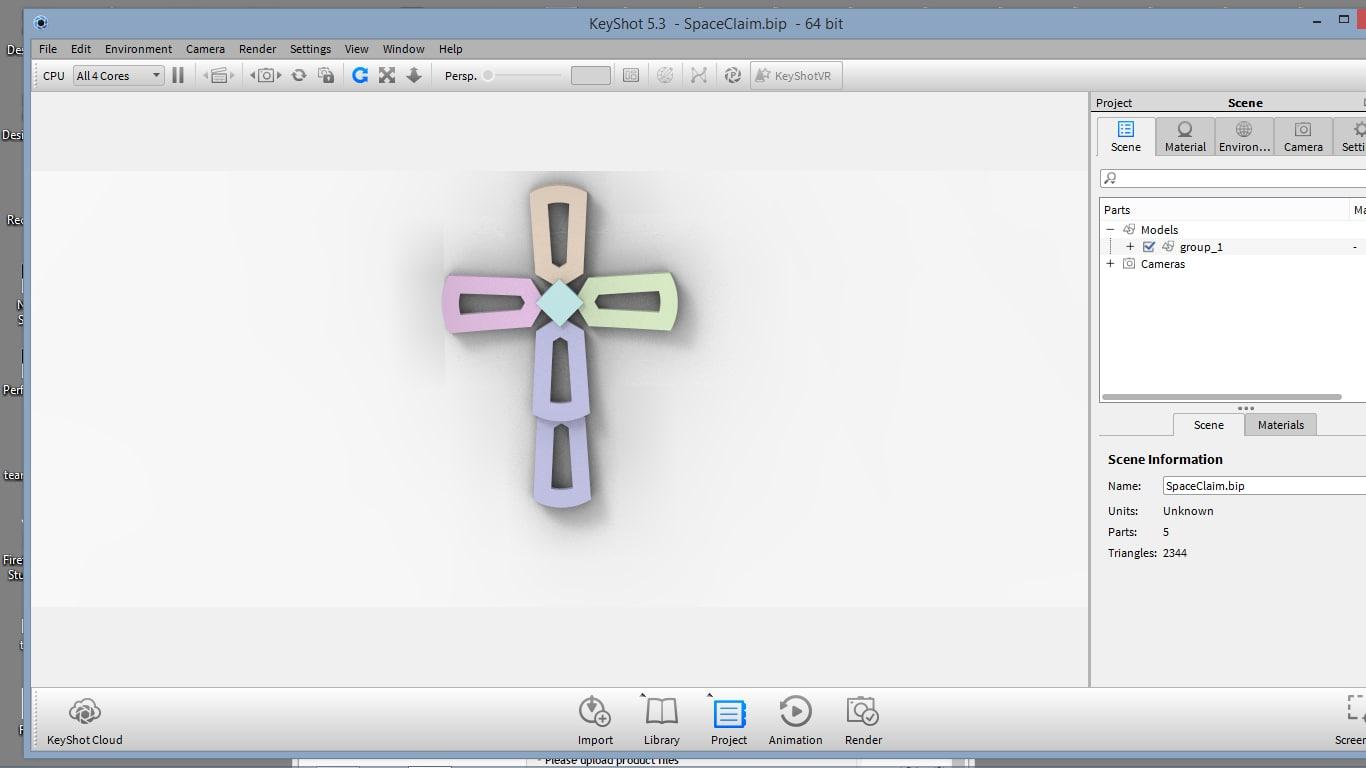 cross pendent 3D model